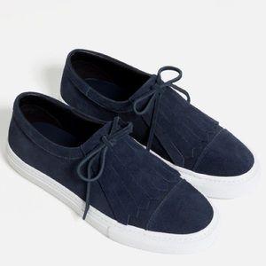 ZARA Plimsoll leather sneakers